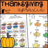 Thanksgiving Apraxia Printables