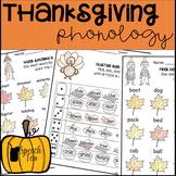 Thanksgiving Phonology Printables