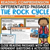 The Rock Cycle Activities Close Reading Comprehension Passages Print & Digital