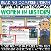 Women's History Month Activities Close Reading Comprehension Passages