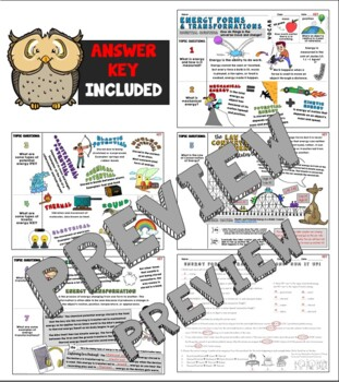 Types of Energy and Energy Transformations Cornell Doodle Notes
