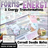 Types of Energy and Transformations Cornell Doodle Notes D