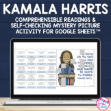 Kamala Harris Spanish Reading Comprehension Mystery Puzzle for Google Sheets