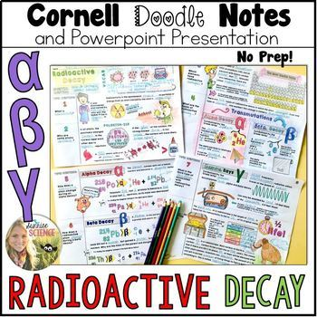 Radioactive Decay Cornell Doodle Notes And Powerpoint By