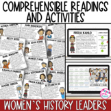 Spanish Reading Comprehension Activities Women's History Month with DIGITAL