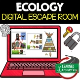 Ecology Digital Escape Room, Ecology Activity Pages NO PREP