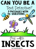 INSECT Text Evidence Detectives Reading Passages and Questions Distance Learning