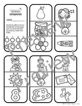 Language Homework Mini-books