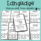 Language Homework Mini-books | Speech Therapy Homework