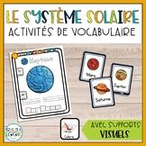 Le système solaire | Activités de vocabulaire