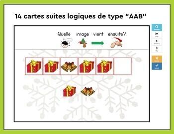 Les suites logiques de Noël | ABAB, ABC, AAB, ABB