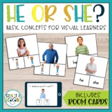 Pronouns for Speech Therapy | He or She