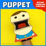 Superhero Big Mouth Puppet, Fun Easy Preschool Craft Printable Activity
