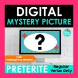 Thanksgiving Preterite Tense Digital Mystery Picture | Reg