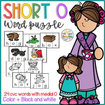 Short O CVC words Vocabulary Puzzles