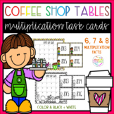 Coffee Shop Tables Multiplication Task Cards (x6, x7 and x8)