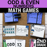 2nd Grade Even and Odd Numbers Math Centers - Math Games