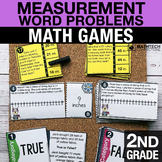 2nd Grade Measurement Word Problems Math Centers   2.MD.5