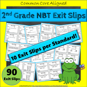 2nd Grade NBT Exit Slips: Number & Operations in Base Ten Exit Slips 2nd Grade