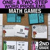 2nd Grade One- and Two-Step Word Problems Math Centers - M