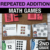 2nd Grade Repeated Addition and Arrays Math Centers - Math Games