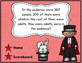 3 Digit Subtraction with Regrouping Interactive Powerpoint Math Gamed