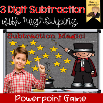 3 Digit Subtraction with Regrouping Interactive Powerpoint Math Game