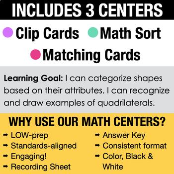 3rd - Classifying Quadrilaterals Math Centers - Math Games