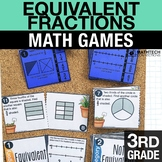 3rd - Equivalent Fractions Math Centers - Math Games