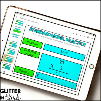 2-Digit by 1-Digit Multiplication for Google Classroom DIGITAL