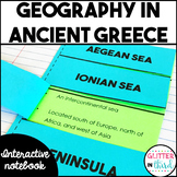 Ancient Greece geography activities interactive notebook