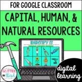 Capital, human, & natural resources Google Classroom DIGITAL