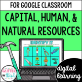 Natural Human and Capital Resources for Google Classroom Distance Learning