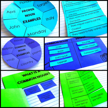 Common and proper nouns Interactive Notebook