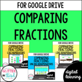 Google Classroom Distance Learning Comparing Fractions BUNDLE