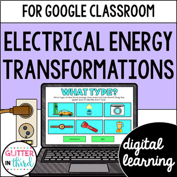 Electrical energy transformations for Google Classroom DIGITAL