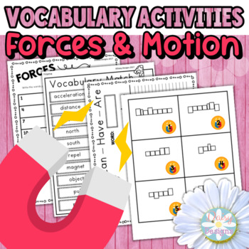 Forces and Motion Vocabulary Activities