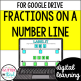 Fractions on Number Lines for Math Google Drive & Google Classroom