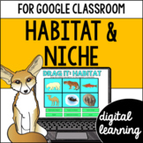 Habitat and niche for Google Classroom DIGITAL