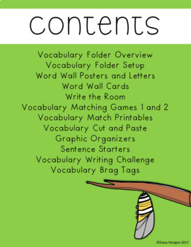 Life Cycles Vocabulary Activities