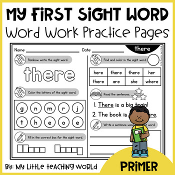 Primer Sight Word - Word Work