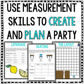 Project Based Learning for Math Google Drive Activities: Plan A Party PBL