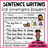 Second Grade Sight Word Predictable Sentence Writing
