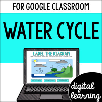 The water cycle for Google Classroom DIGITAL