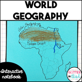 World Geography interactive notebook