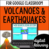 Volcanoes and Earthquakes for Google Classroom Distance Learning