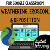 Weathering, erosion, & deposition for Google Classroom Distance Learning