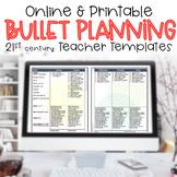 Editable Teacher Binder 2017-2018 Bullet Lesson Planning Template FLORA