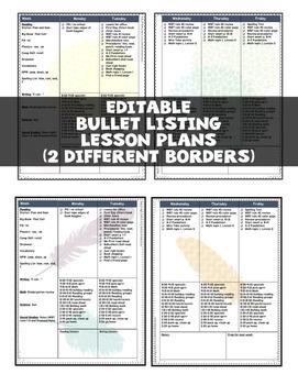 Editable Teacher Binder 2018-2019 {18 MONTHS} Bullet Lesson Planning FLORA