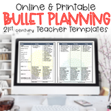 Editable Teacher Binder 2017-2018 Bullet Lesson Planning T
